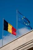 Belgische vlag Royalty-vrije Stock Afbeeldingen