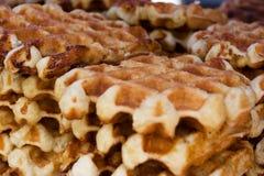 Belgische wafel Royalty-vrije Stock Afbeeldingen