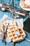 Belgische wafels royalty-vrije stock foto