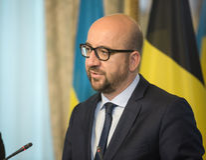 Belgischer Premierminister Charles Michel Stockbild
