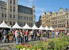 Belgisk ölhelg Bryssel Arkivbild