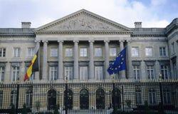 belgisk byggnadsparlament Arkivbilder