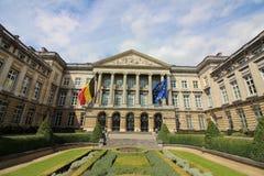 Belgisk federal parlament royaltyfria foton