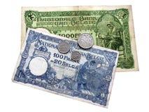 Belgisk fråga för pengar 1920-1933 arkivbild