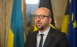 Belgisk premiärminister Charles Michel Arkivfoto