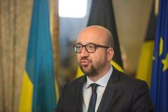 Belgisk premiärminister Charles Michel Royaltyfri Fotografi