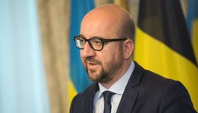 Belgisk premiärminister Charles Michel Arkivbild