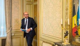 Belgisk premiärminister Charles Michel Fotografering för Bildbyråer