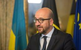 Belgisk premiärminister Charles Michel Royaltyfri Foto