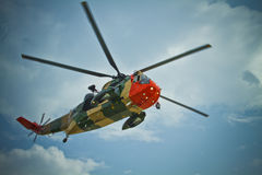 Belgisk Seaking räddningsaktionhelikopter Royaltyfri Bild