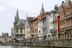 Belgisk stadsmitt Fotografering för Bildbyråer