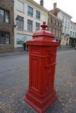 Belgisk traditionell brevlåda Arkivbild