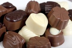 belgiska choklader Royaltyfria Bilder