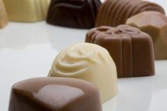 belgiska choklader Arkivfoton