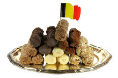 Belgiska chokladtryfflar Arkivbilder