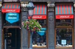 belgiskt chokladlager Arkivbild