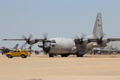 Belgiskt flygvapen C-130 Hercules Fotografering för Bildbyråer