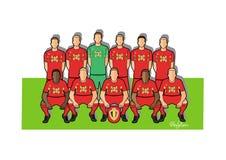 Belgiskt fotbollslag 2018 royaltyfri illustrationer