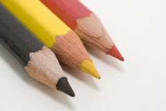 Belgium. Belgian flag with colored pencils royalty free stock photo
