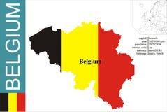 Belgium. Flag and area vector illustration stock illustration