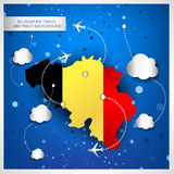 Belgium air travel abstract background Stock Images