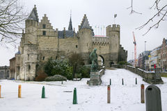 Belgium.Antwerp. Castle Steen. Royalty Free Stock Images