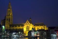 Belgium. Antwerp evening. Royalty Free Stock Photos