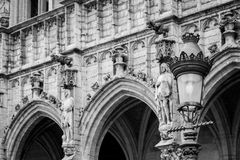 Belgium Archtecture. Example of gothic archtecture found in the grand place of brussels, belgium Stock Photo