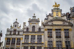Belgium Archtecture II. Example of archtecture found in the grand place in brussels, belgium Stock Photo