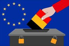 Belgium ballot box for the European elections. A belgium ballot box for the European elections stock illustration