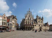 Belgium. Beautiful city Mechelen. Grote Markt Stock Images