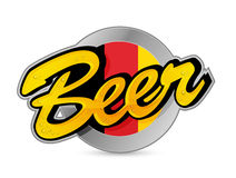 Belgium Beer poster sign seal illustration Royalty Free Stock Photography