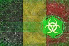 Belgium biohazard threat. Bio hazard concept. Royalty Free Stock Images