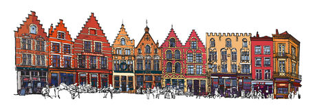 Belgium, Bruges - old brick house Royalty Free Stock Photography