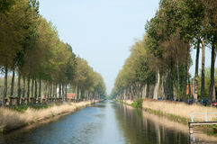 Belgium Canal Bruges Stock Image