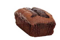 Belgium Chocolate Loaf Cake Royalty Free Stock Image