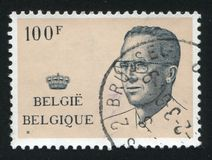 King Baudouin printed by Belgium Stock Image