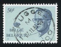 King Baudouin printed by Belgium Stock Photo