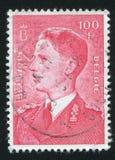 King Baudouin printed by Belgium Royalty Free Stock Image