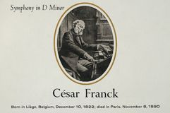 Belgium Composer  César Franck royalty free stock photos