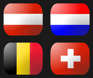 Belgium Dutch Swiss Austria Flag Royalty Free Stock Image