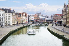 Belgium. The Embankments Of Ghent. Stock Image