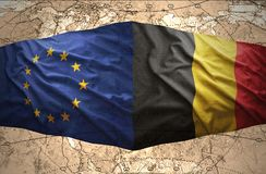 Belgium and European Union Royalty Free Stock Images