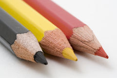 Belgium Flag. Belgian flag with colored pencils stock image