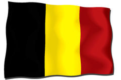 Belgium Flag. Flag of Belgium waving in the wind Royalty Free Illustration