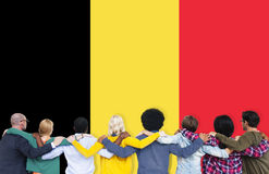 Belgium Flag Country Nationality Liberty Concept.  Stock Photo