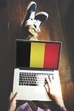Belgium Flag Country Nationality Liberty Concept.  Royalty Free Stock Photos