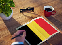 Belgium Flag Country Nationality Liberty Concept Stock Image