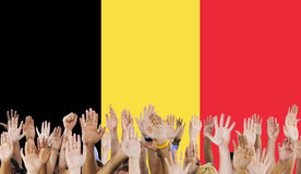 Belgium Flag Country Nationality Liberty Concept Stock Images