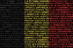 Belgium flag is depicted on the screen with the program code. The concept of modern technology and site development.  stock photos